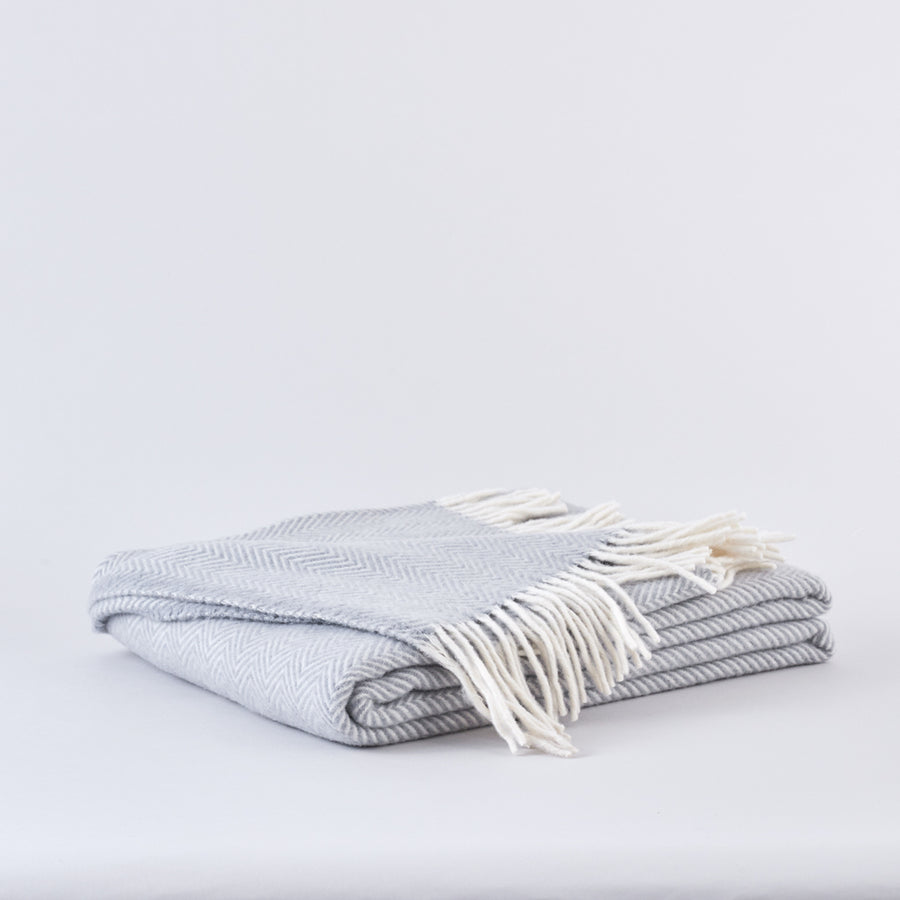 Cloud Grey, Pure Wool Throw