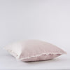 Organic Belgian Linen European Fringed Pillowcase in Linen Blush