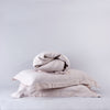 Organic Belgian Linen Quilt Cover Set in Linen Blush