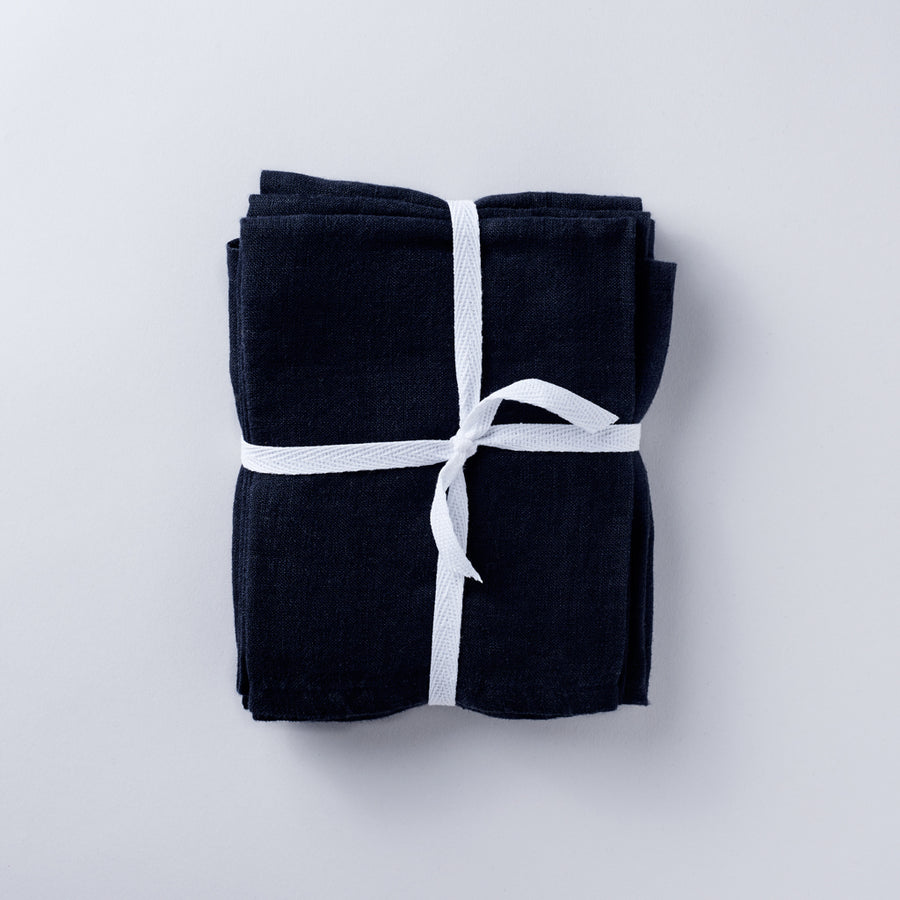 Linen Napkin Set in Midnight Navy