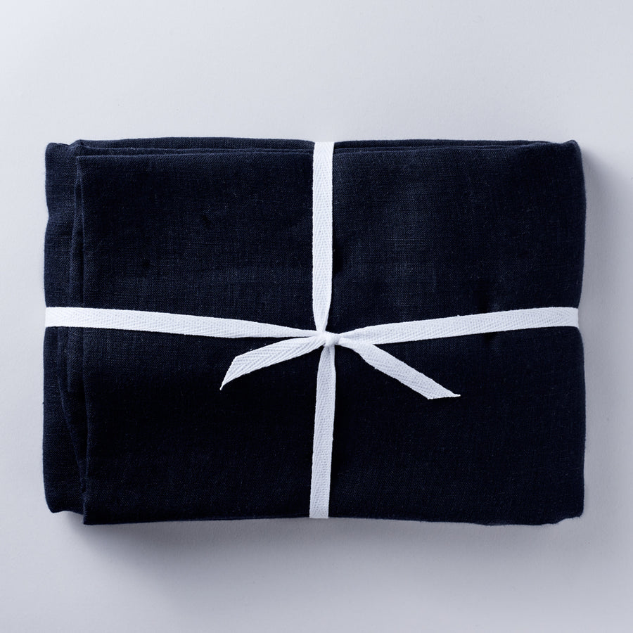 Linen Tablecloth in Midnight Navy