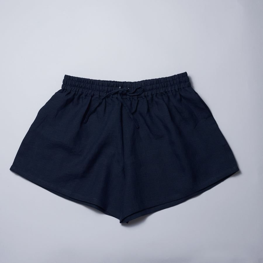 Organic Linen Bed-to-Beach Shorts