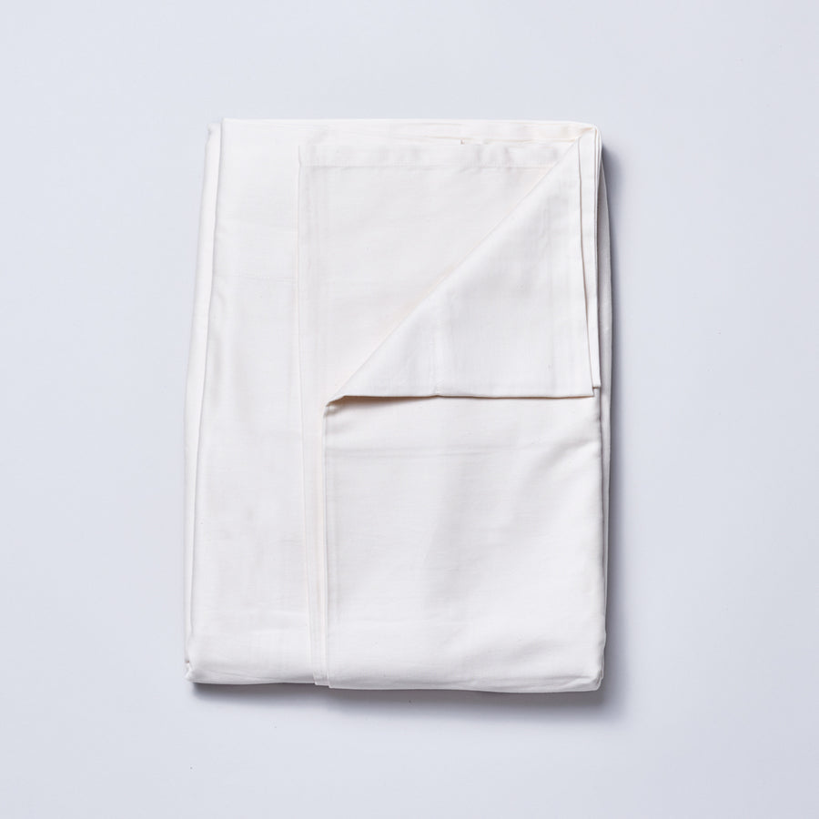 Organic Cotton Sateen Sheet Set in Natural Ivory