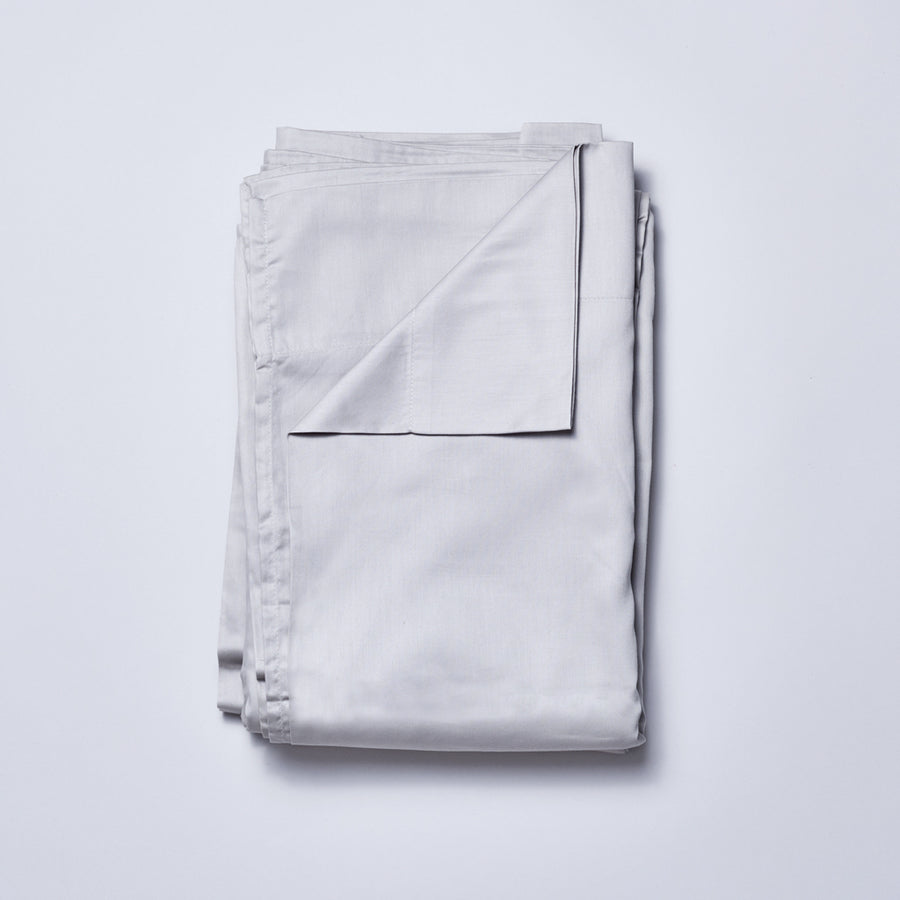 Organic Cotton Sateen Sheet Set in Dove Grey