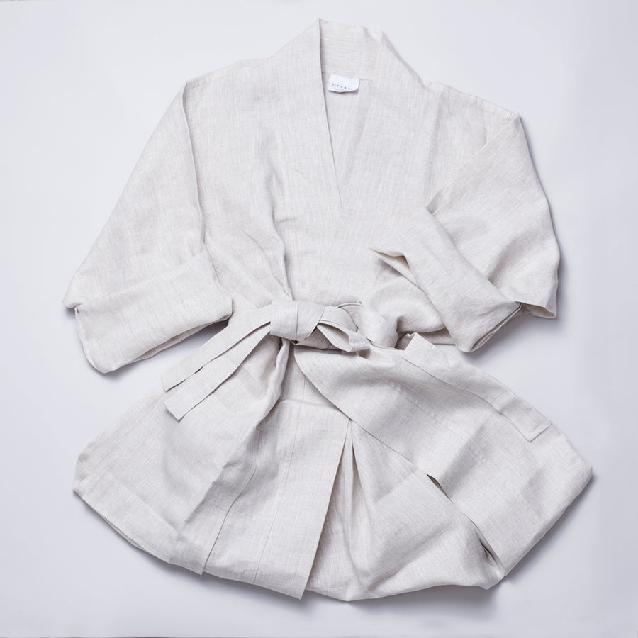 Organic Linen Luxury Robe
