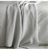 Dove Grey Cotton Waffle Blanket