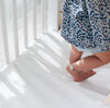 Organic Cotton Cot Fitted Sheet in Milk White