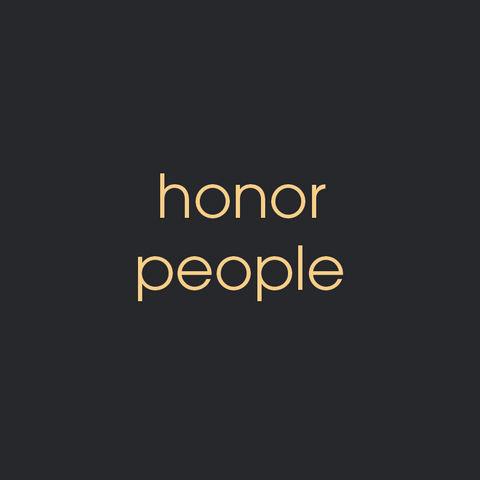 honor people