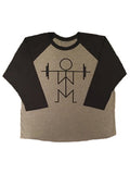 Unisex Squat Raglan (Gray)