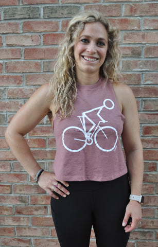 **NEW* CycleStix Cropped Racer Tank