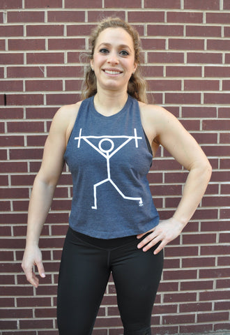Split Jerk Racer Crop Tank