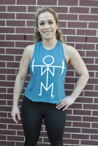 Squat Racer Crop Tank