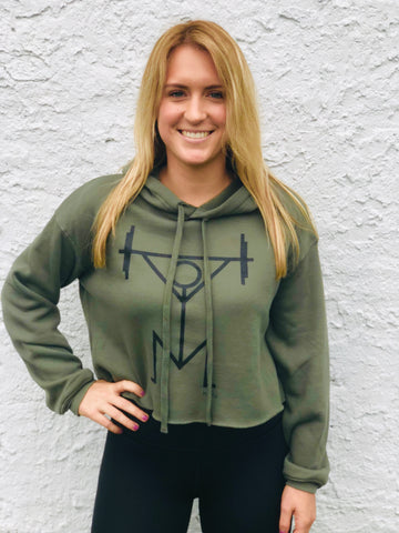 *NEW* Military Cropped Hoodiestix
