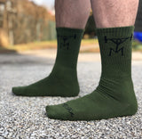 Military Green Athletic Socks