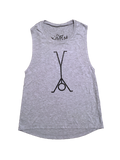 Handstand Stix Gray Muscle Tee