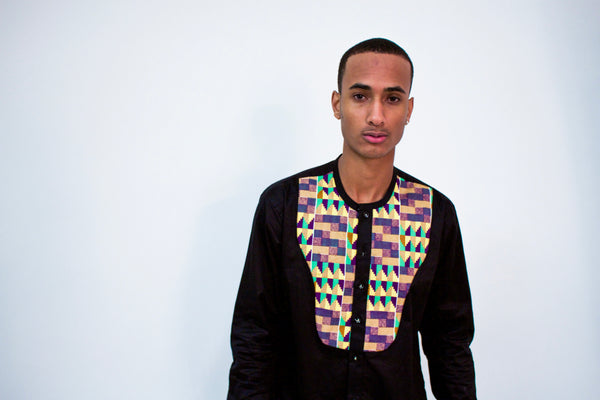 Kente Long Sleeve Button Up Shirt - Omenka