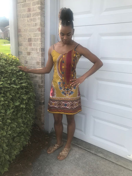 Tank Dashiki Dress - Omenka