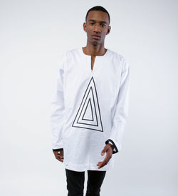 White Triangle Tunic - Omenka