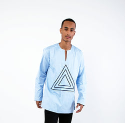 Sky Blue Triangle Tunic - Omenka