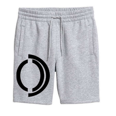 White Omenka logo sweat shorts