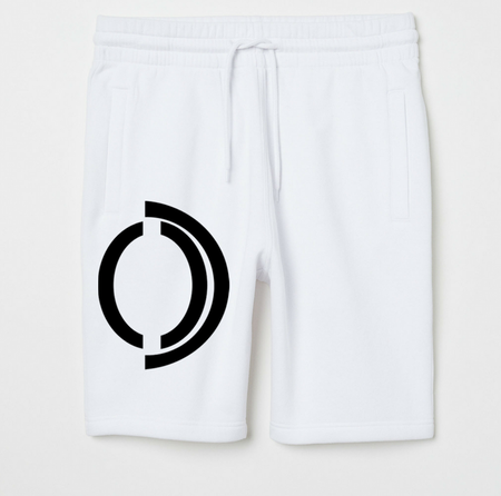 Red Omenka logo sweat shorts