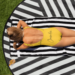 Yellow Omenka Signature One-Piece Swimsuit - Omenka