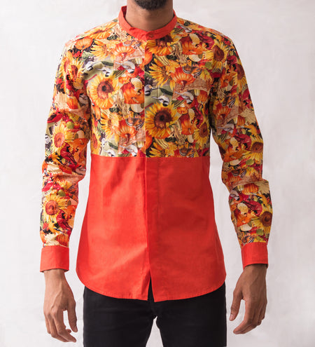 Abstract Patterned Shirt