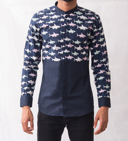 Shark Patterned Shirt - Omenka
