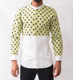 Lattice Patterned Shirt - Omenka