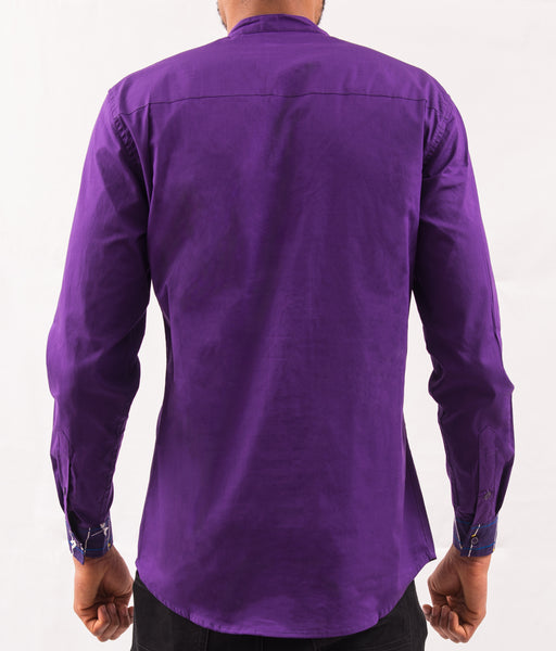 Purple Shirt w/ Pattern - Omenka