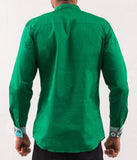 Green Shirt w/ Leaves Pattern - Omenka
