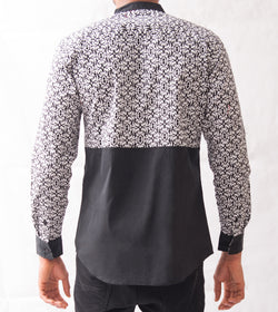 Damask Patterned Shirt - Omenka