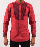 Red Shirt w/ Pattern - Omenka