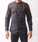 Paint Splatter Patterned Shirt - Omenka