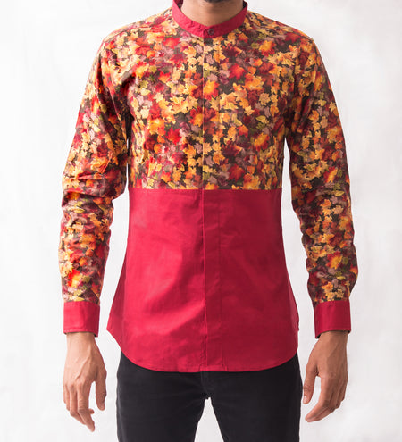 Rose Patterned Shirt