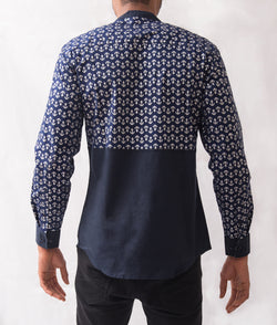 Anchor Patterned Shirt - Omenka
