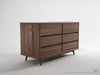 Vintage Chest of Drawers - Dellis Furniture 6 Drawer - 168 x 50 x 72 / Teak - 1