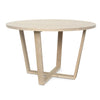 Round Cross Leg Dining Table - Dellis Furniture 1200 Dia x 760 / Tasmanian Oak / Clear Lacquer - 1