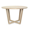 Round Cross Leg Dining Table - Dellis Furniture  - 2