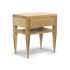 Deco Bedside Table - Dellis Furniture 1 Drawer 1 Shelf / American Oak / Clear Lacquer - 5