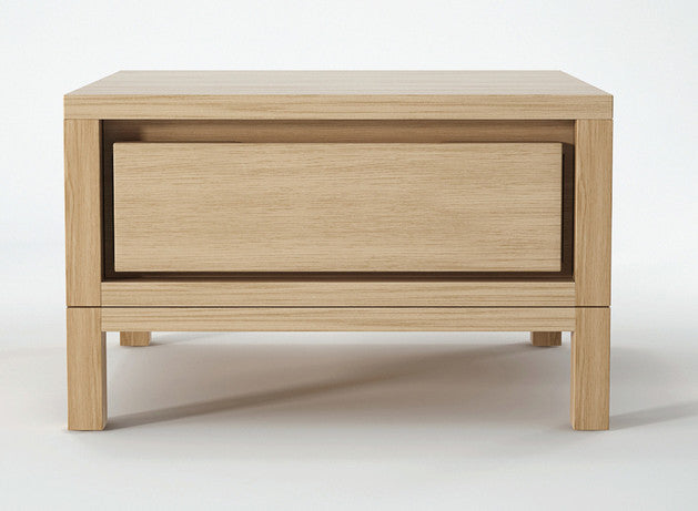 Solid 1 Drawer Bedside - Dellis Furniture Oak - 1