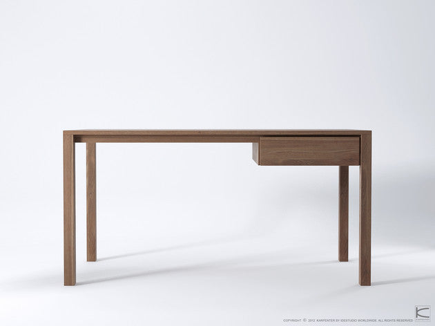 Solid Office Desk - Dellis Furniture Teak - 3
