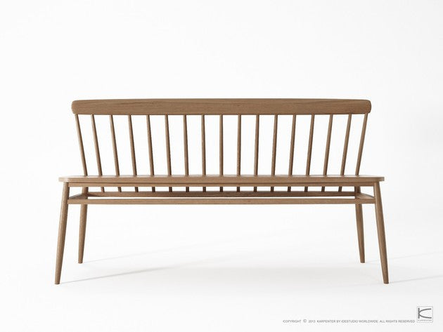 Twist Bench - Dellis Furniture Teak - 3