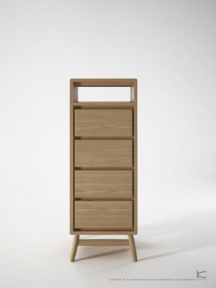 Twist Tallboy - Dellis Furniture Oak - 1