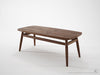 Twist Coffee Table - Dellis Furniture 100 x 45 x 48 / Walnut - 5