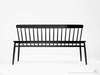 Twist Bench - Dellis Furniture Black Stained European Oak - 8