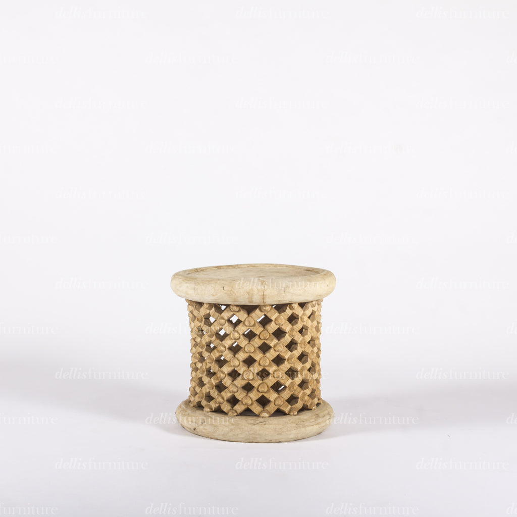 Tree Trunk Coffee Table South Africa: African Hand Carved 'Bamileke' Coffee Table
