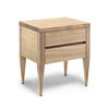 Deco Bedside Table - Dellis Furniture 2 Drawers / American Oak / Clear Lacquer - 8