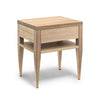 Deco Bedside Table - Dellis Furniture 1 Drawer 1 Shelf / Tasmanian Oak / Clear Lacquer - 3