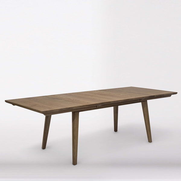 LoRusso Dining Table - Dellis Furniture Extension - 2200/2800 x 1200 x 750 / American Oak / Clear Lacquer - 1